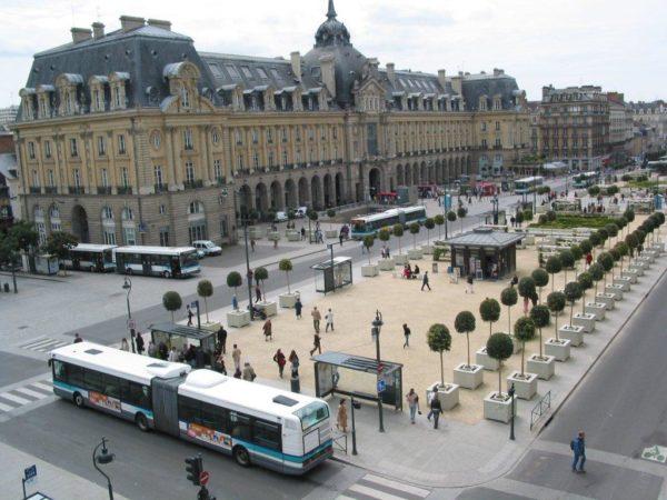 Vue aérienne de Rennes - République